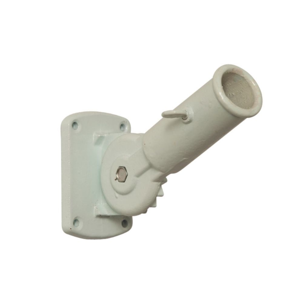 Flag Pole Bracket - Aluminum Adjustable Bracket - 2.5in - White