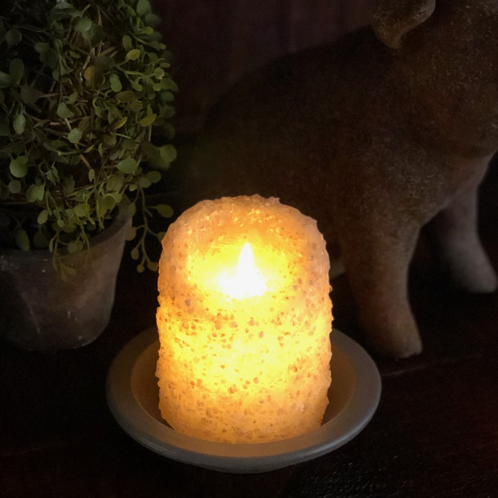 Flameless Pillar Candle - Cappuccino - 3x4