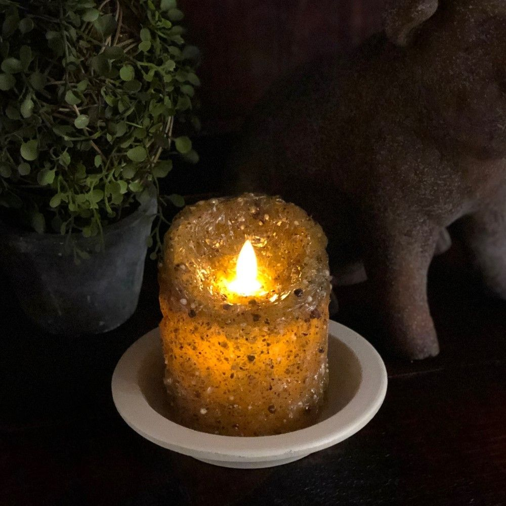 Flameless Pillar Candle - Evening Mocha - 3x4