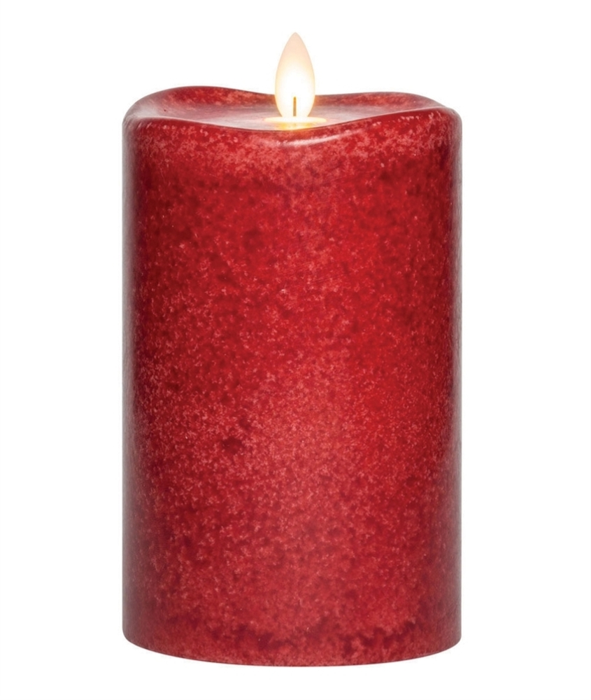 Flameless Pillar Candle - Mirage Gold - Chili - 6in x 3.75in