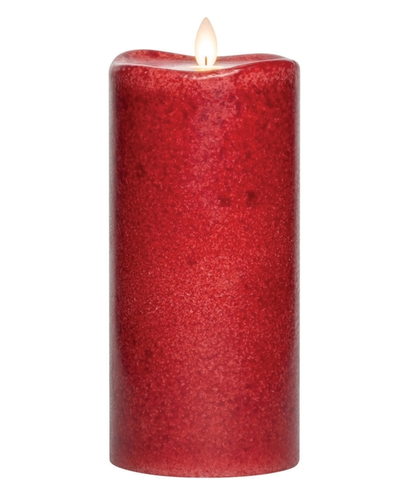 Flameless Pillar Candle - Mirage Gold - Chili - 8in x 3.75in