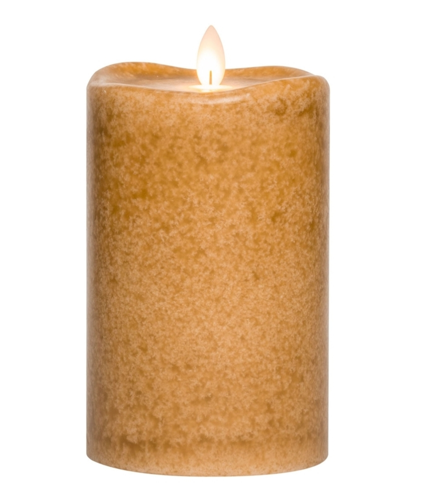 Flameless Pillar Candle - Mirage Gold - Spice - 6in x 3.75in