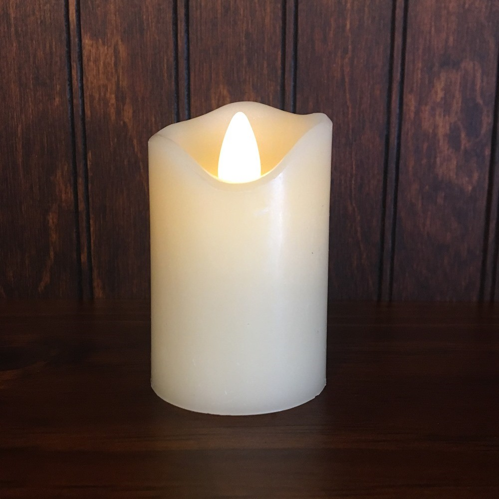 Flameless Votive Candle - Motion Flame LED - Ivory - 3in x 2in