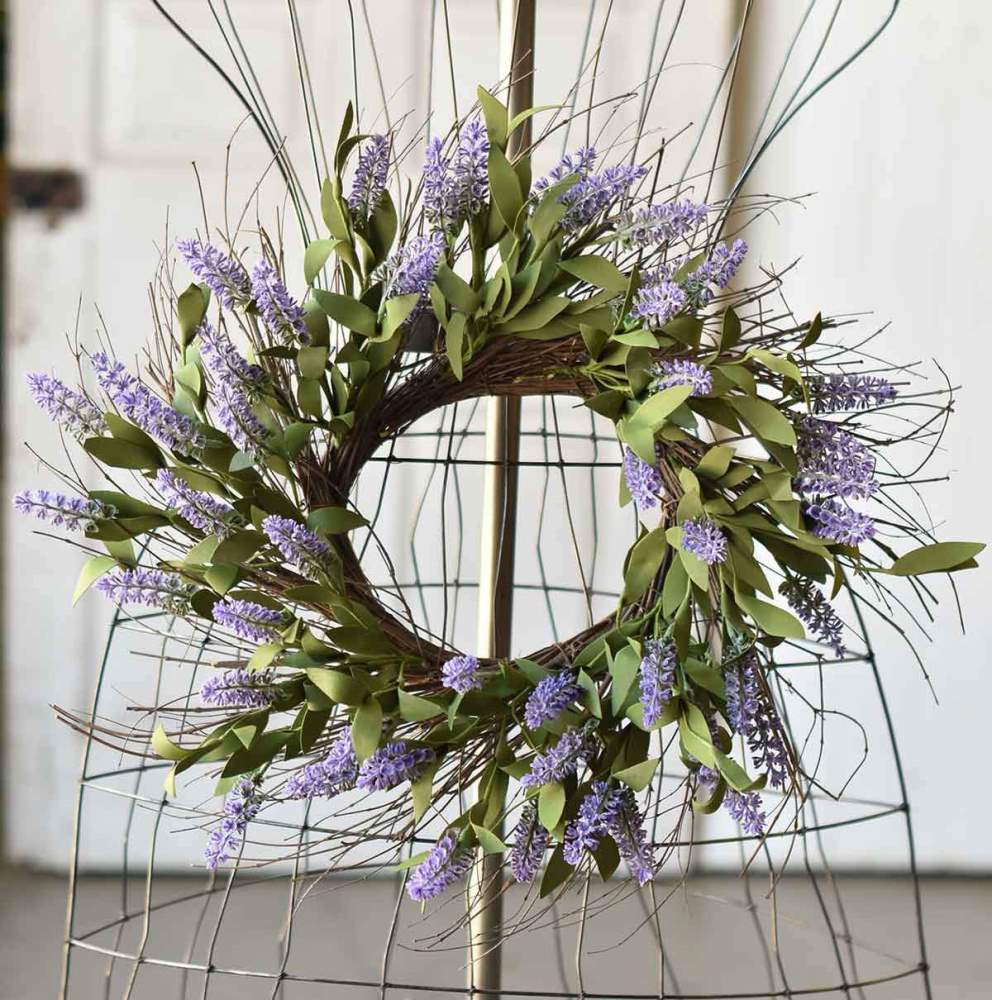 Floral Candle Ring - Alluring Lavender - 6.5in