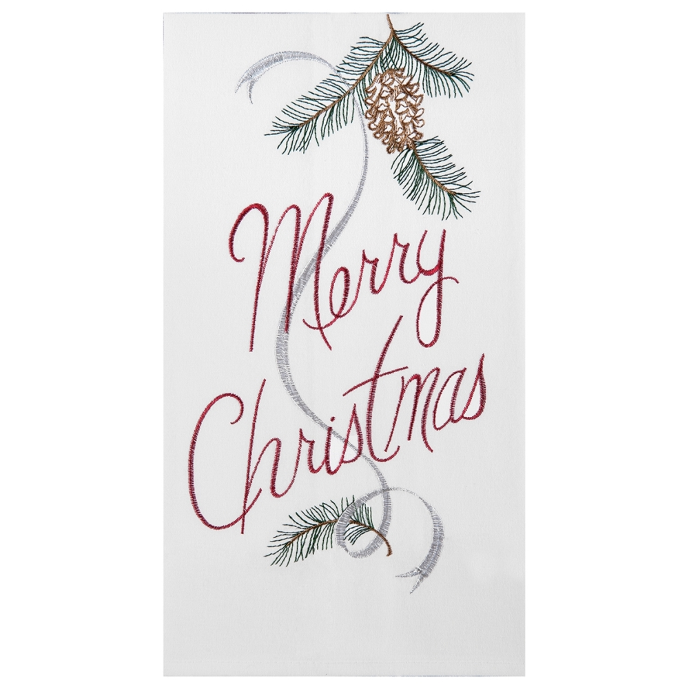 Flour Sack Dish Towel - Merry Christmas - 27in