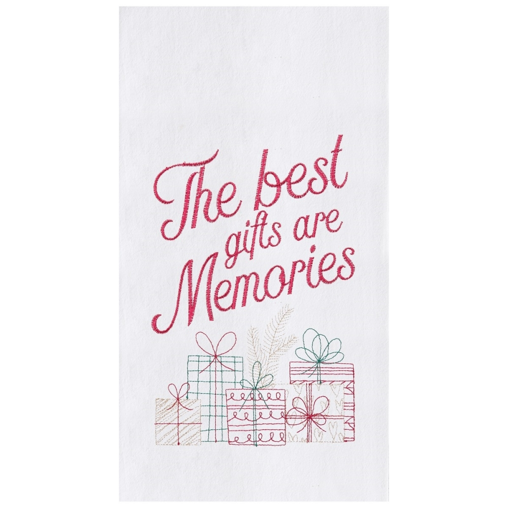Flour Sack Dish Towel - The Best Gifts Are Memories - 27in