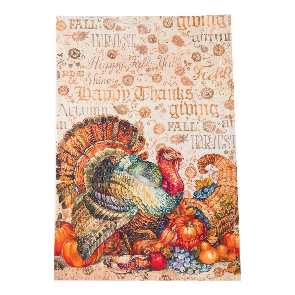Flour Sack Dish Towel - Traditional Turkey - 27in