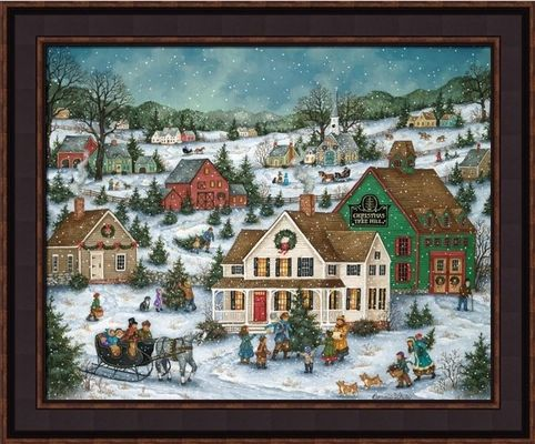 Framed Folk Art Paintings by Bonnie White � Country Art
