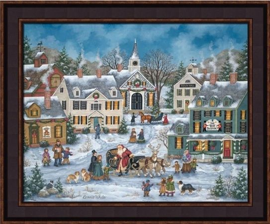"Framed Print - ""Christmas Spirit"" - 16in x 20in - Artist Bonnie White"