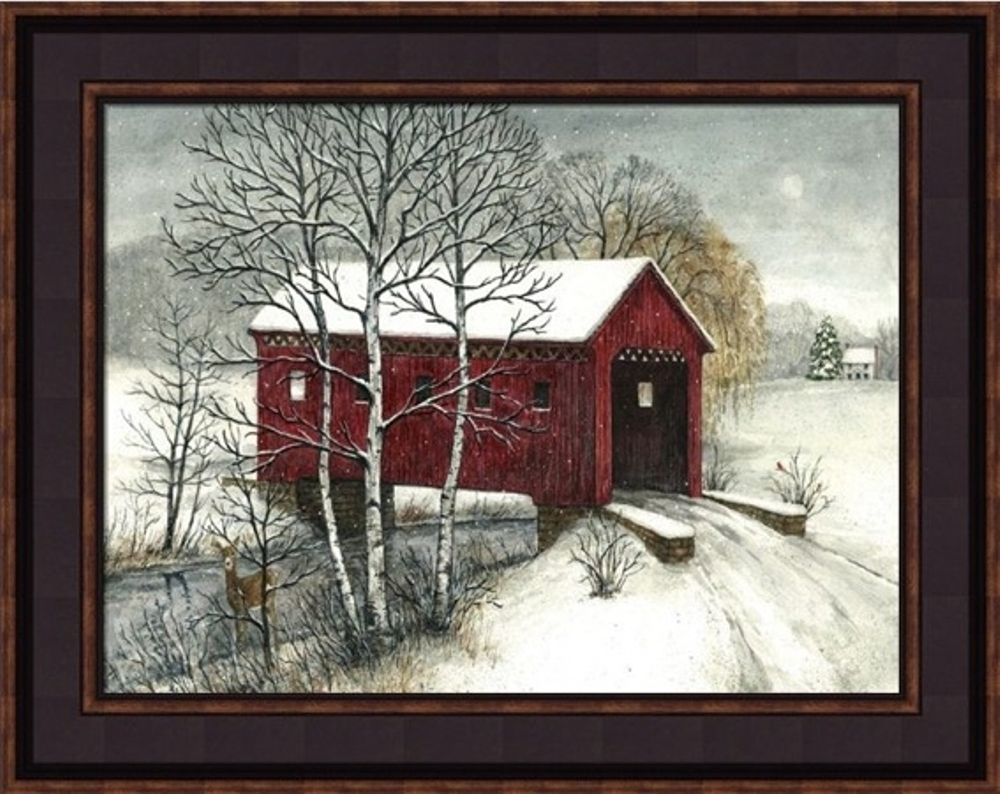 Framed Print - Covered Bridge -12x16 - Bonnie Fisher