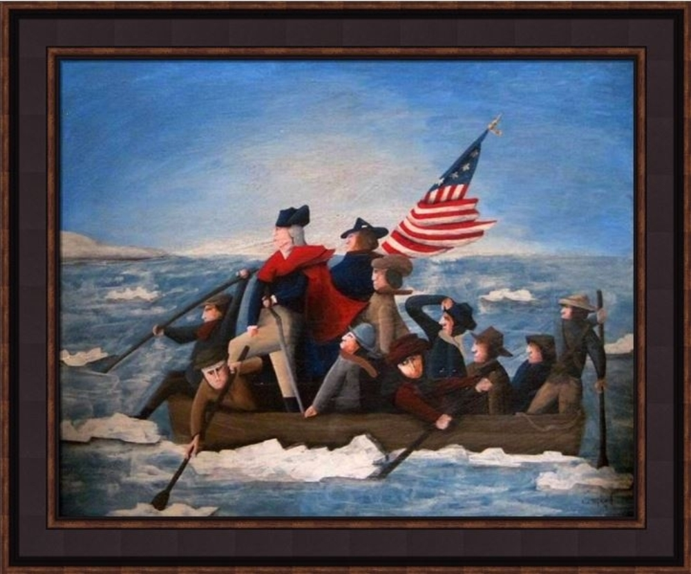 Framed Picture - Crossing the Delaware - 20x24 - Tim Campbell