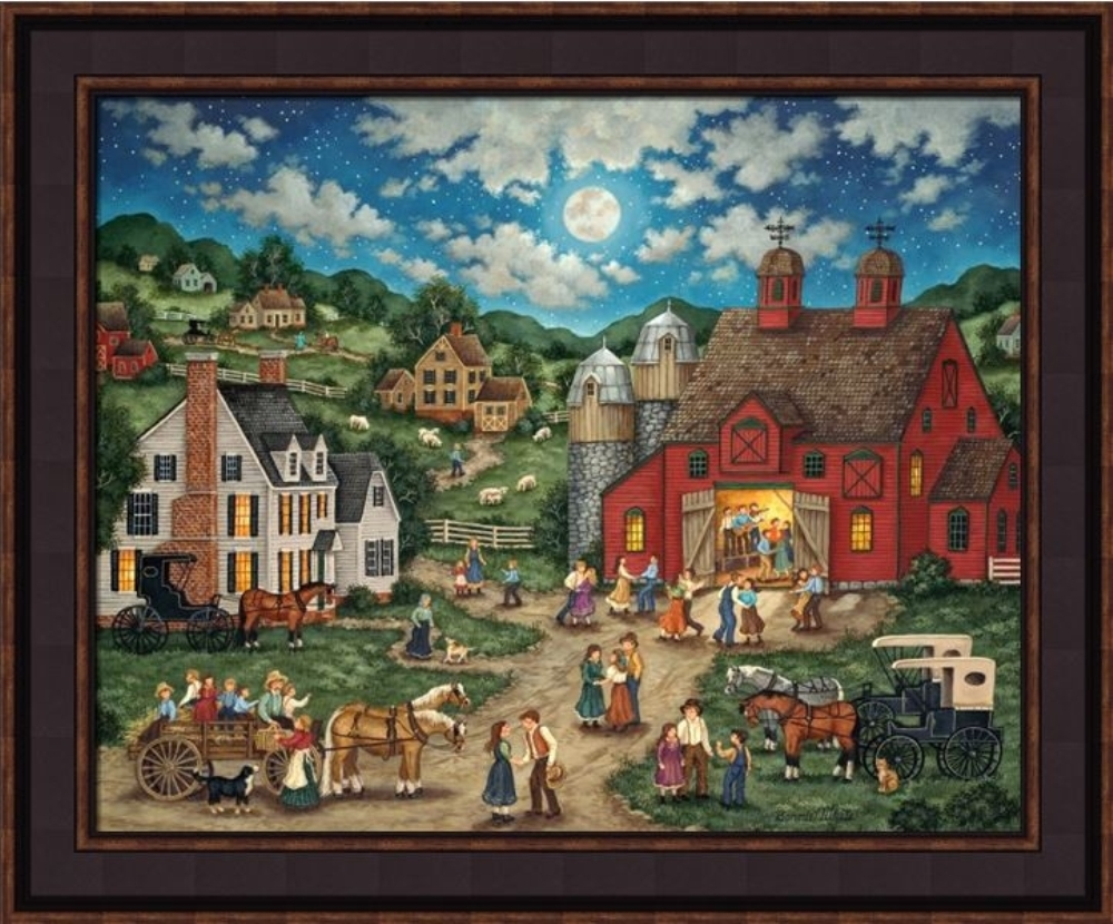 Framed Picture - Friday Night Hoedown - 24x20 - Bonnie White