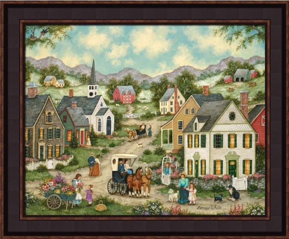 Framed Picture - Mayflowers - 24x20 - Bonnie White
