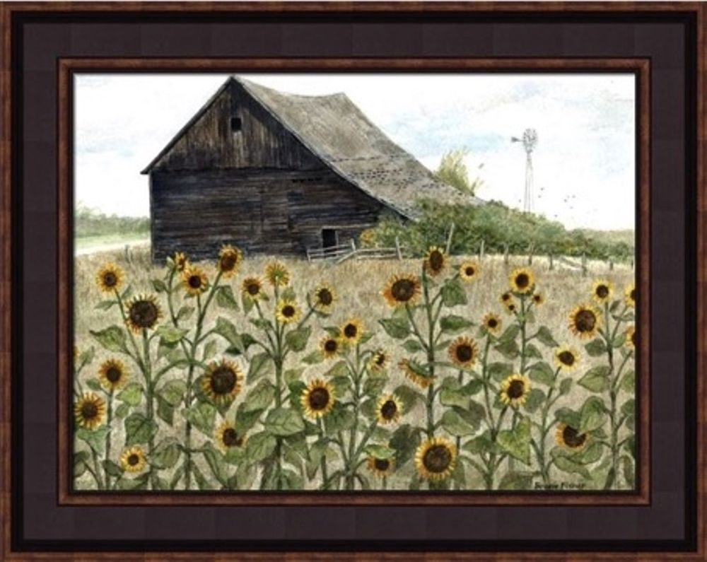 Framed Print - Sunflowers - 16x12 - Bonnie Fisher