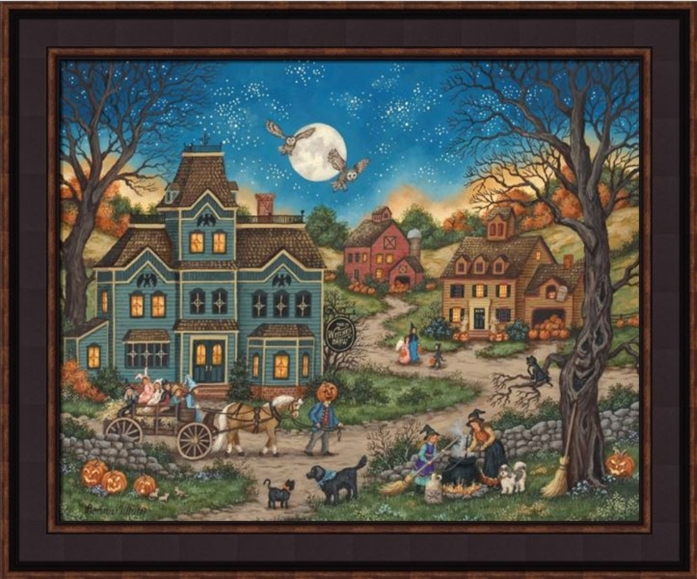 Framed Picture - Witches Brew - 24x20 - Bonnie White