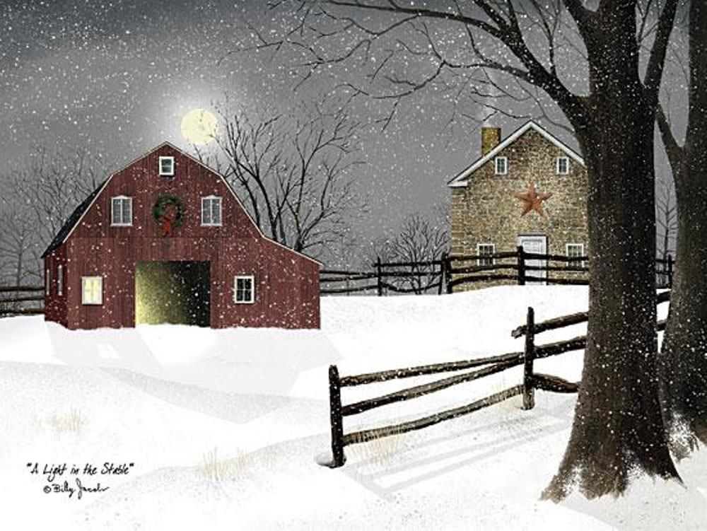 Framed Print - A Light in the Stable - 20x16 - Billy Jacobs