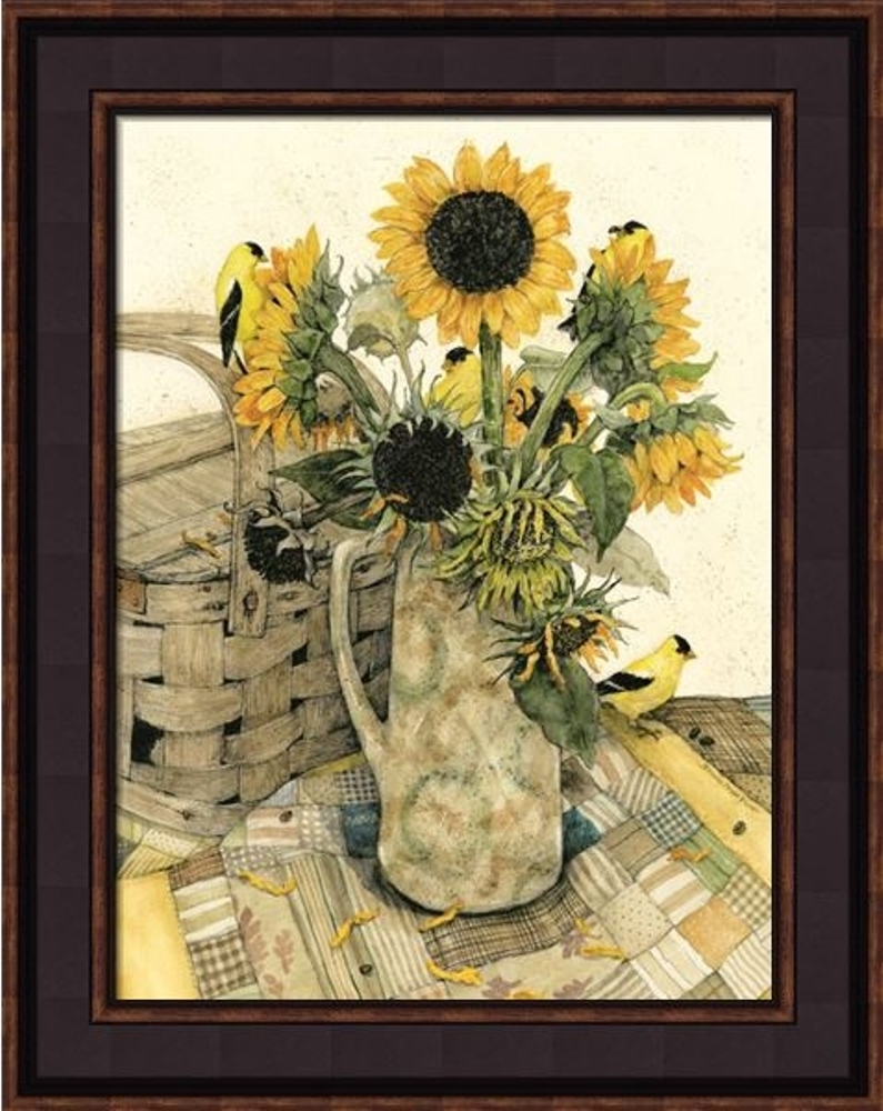 Framed Print - Country Sunflowers - 12x16 - Bonnie Fisher