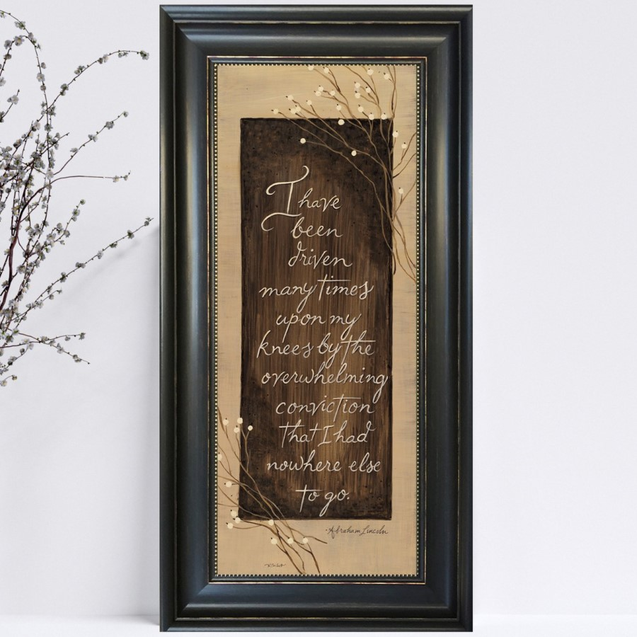 Framed Print - I Have Been Driven - Abraham Lincoln Quote - 12in x 22in