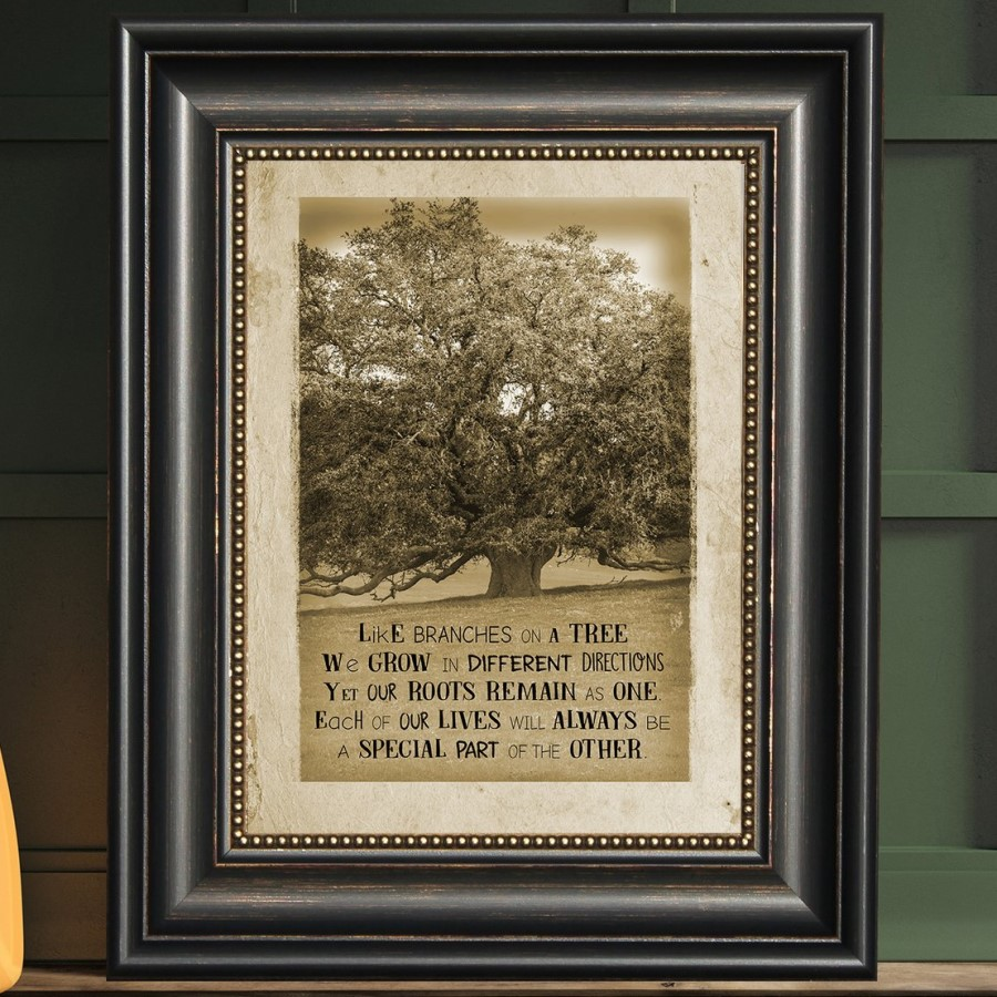 Framed Print - Like Branches On a Tree - Quote - 16in x 22in