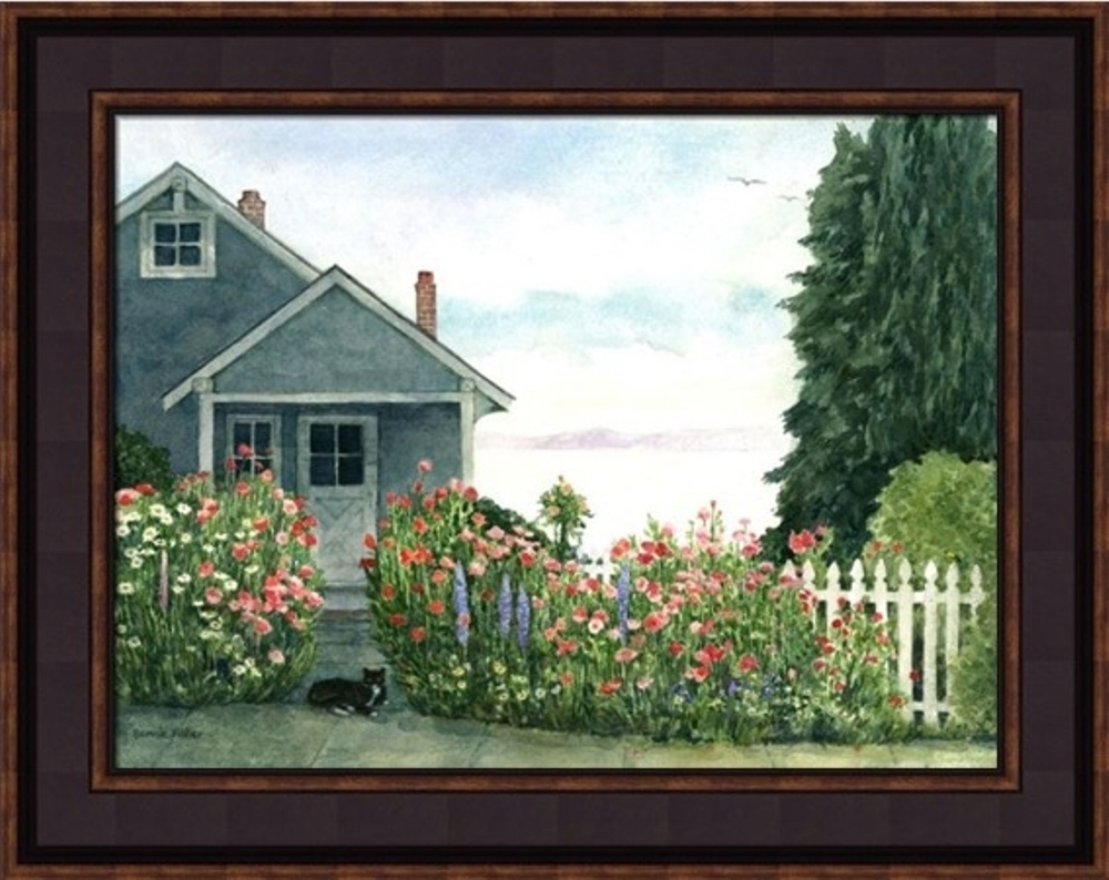 Framed Print - The Garden - 16x20 - Bonnie Fisher