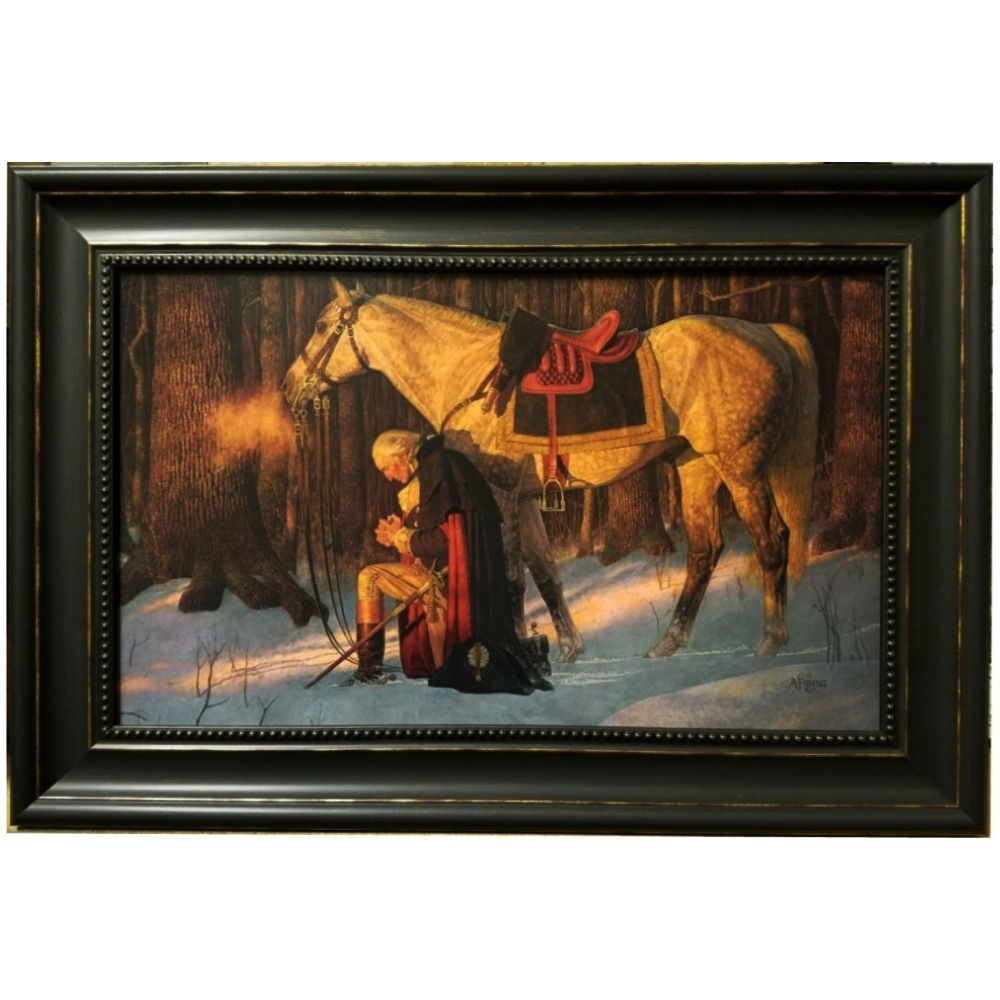 Framed Print - The Prayer At Valley Forge - 15in x 22in - Arnold Friberg