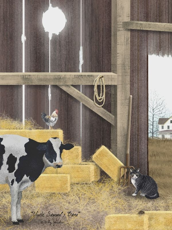 "Framed Print - ""Uncle Sammys Barn"" - 16in x 12in - Artist Billy Jacobs"