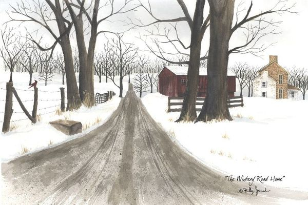Framed Print - Wintery Road Home - 30x16 - Billy Jacobs