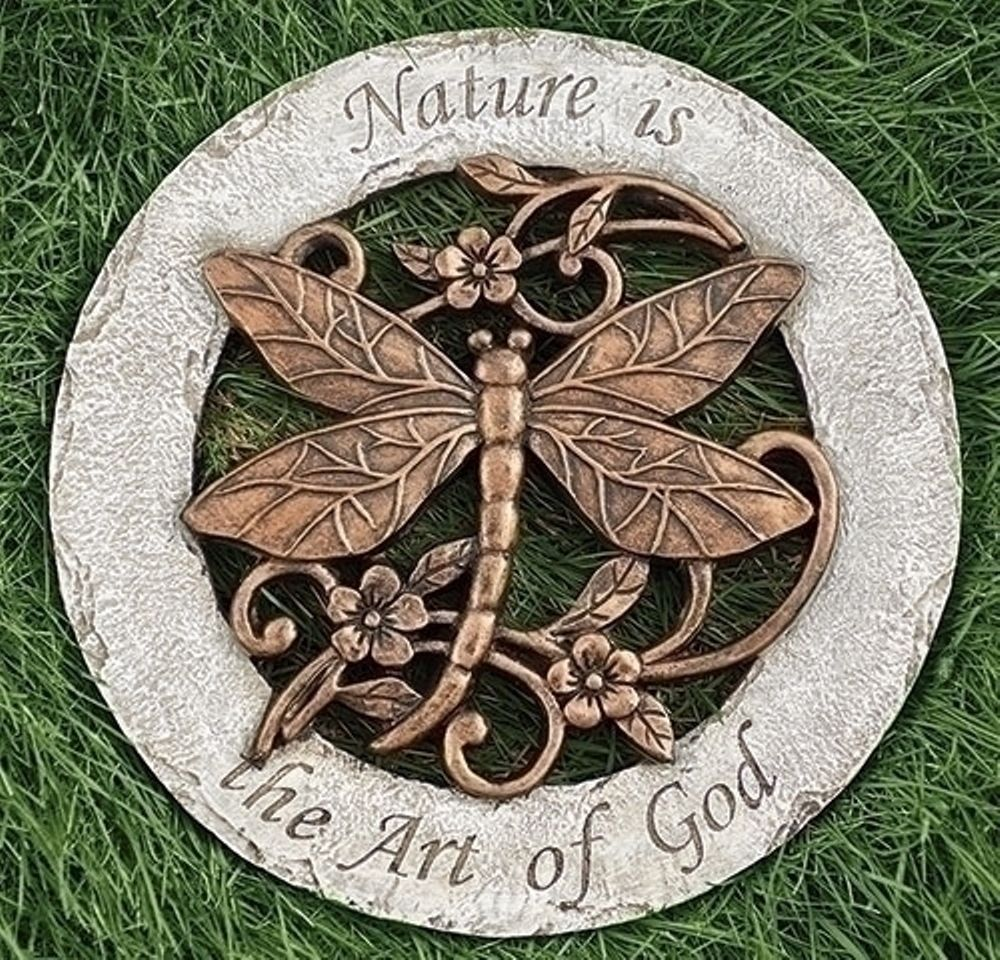 Garden Stepping Stone - Dragonfly - 12.2in
