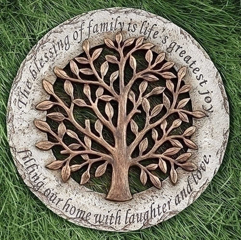 Garden Stepping Stone - Family Tree - 12.2in