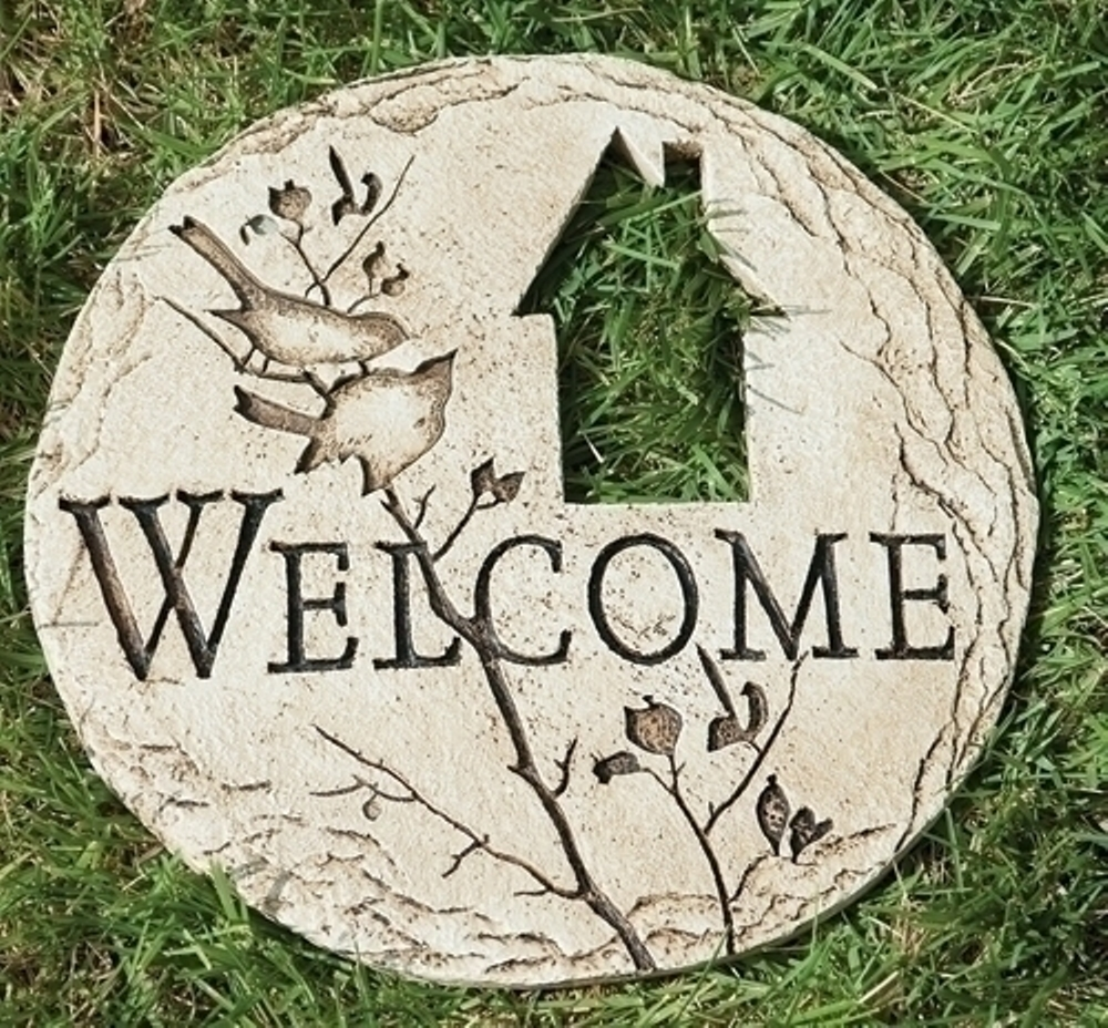 Garden Stepping Stone - Welcome - 12in