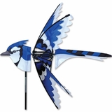 Garden Wind Spinner - Blue Jay - Kinetic - 25in