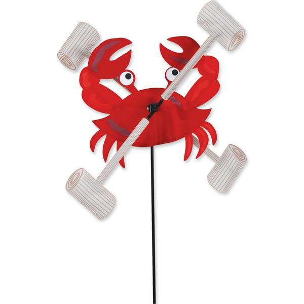 Garden Wind Spinner - Crab With Mallets - Kinetic - 28in