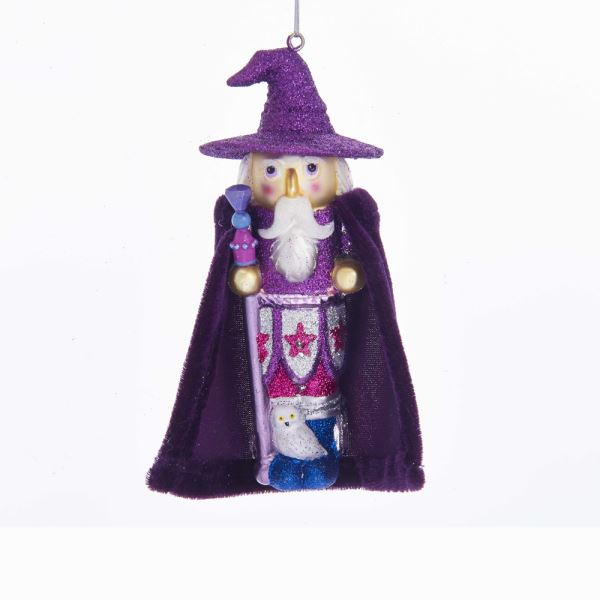 Glass Ornament - Purple Wizard - 5in