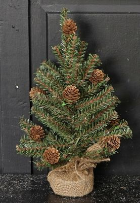 Goose Feather Pine Twig Tree - Table Top Christmas Tree - 12 Inch