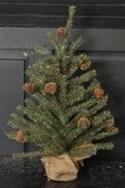 Goose Feather Pine Twig Tree - Table Top Christmas Tree - 18 Inch