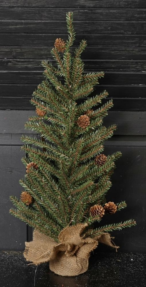 Goose Feather Pine Twig Tree - Table Top Christmas Tree - 2 ft