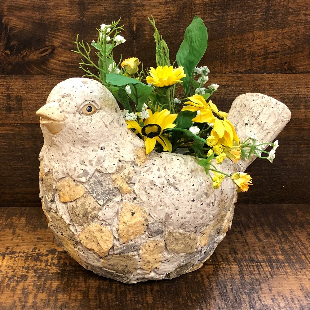 Happy Bird Planter - Flower Pot - 9in