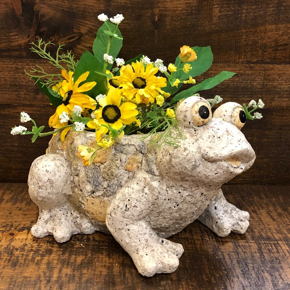 Happy Frog Planter - Flower Pot - 7.5in