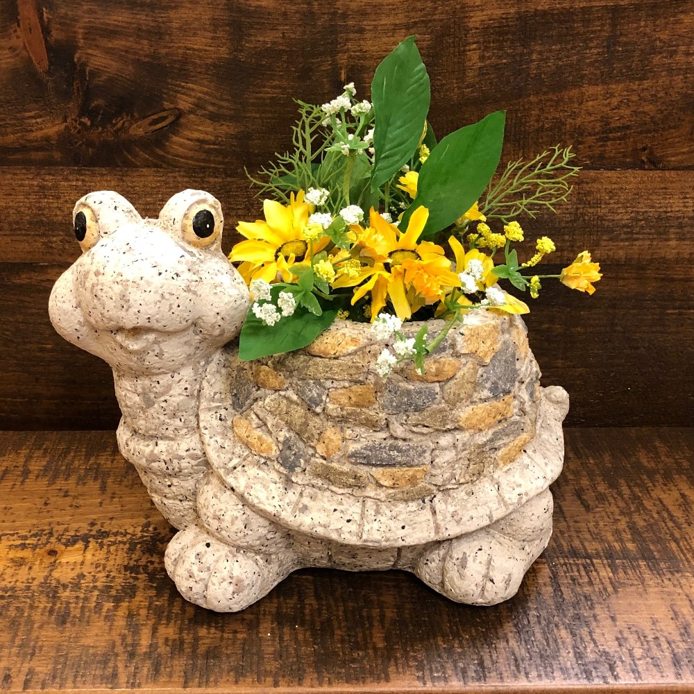 Happy Turtle Planter - Flower Pot - 9in