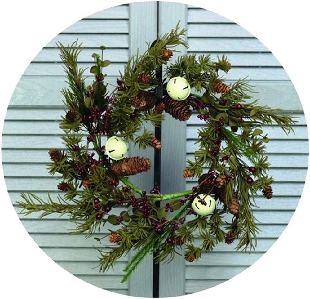 Holiday Artificial Wreath - Country White Bell Pine - 14 Inch