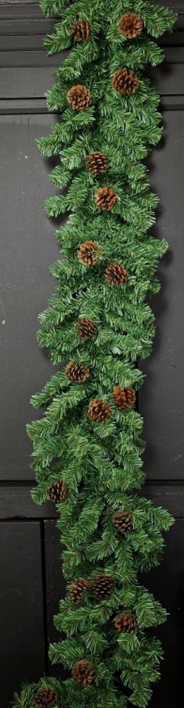Holiday Garland - Alpine Birch with Cones - 6 ft