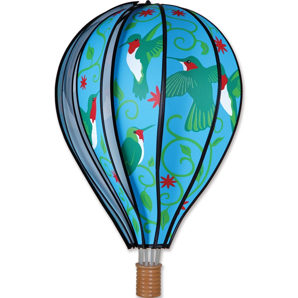 Hot Air Balloon Wind Spinner - Hummingbird - Kinetic - 22in