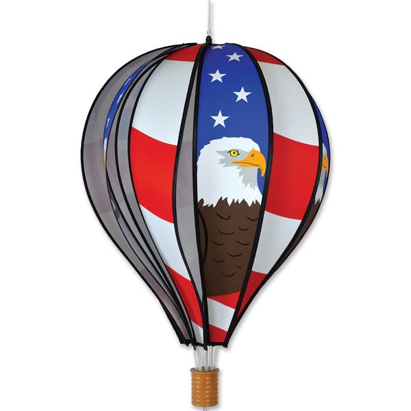 Hot Air Balloon Wind Spinner - Patriotic Eagle - Kinetic - 22in