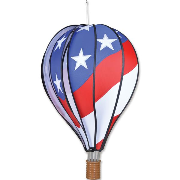 Hot Air Balloon Wind Spinner - Patriotic - Kinetic - 22in