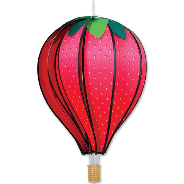 Hot Air Balloon Wind Spinner - Strawberry - Kinetic - 22in
