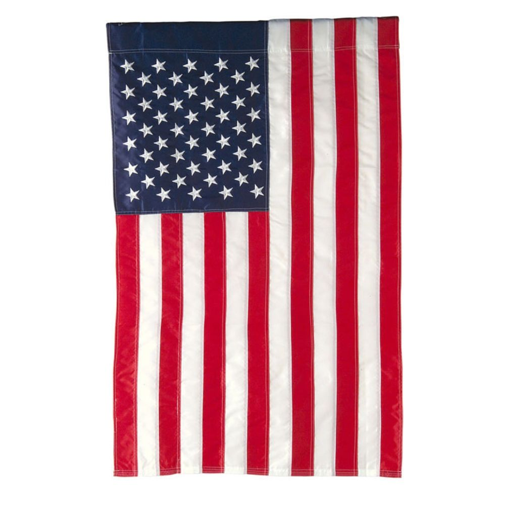 Large Outdoor Flag - Applique American Flag - 28in x 44in