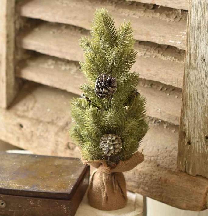 Icy Aspen Pine Tree - Table Top Christmas Tree - 16 Inch