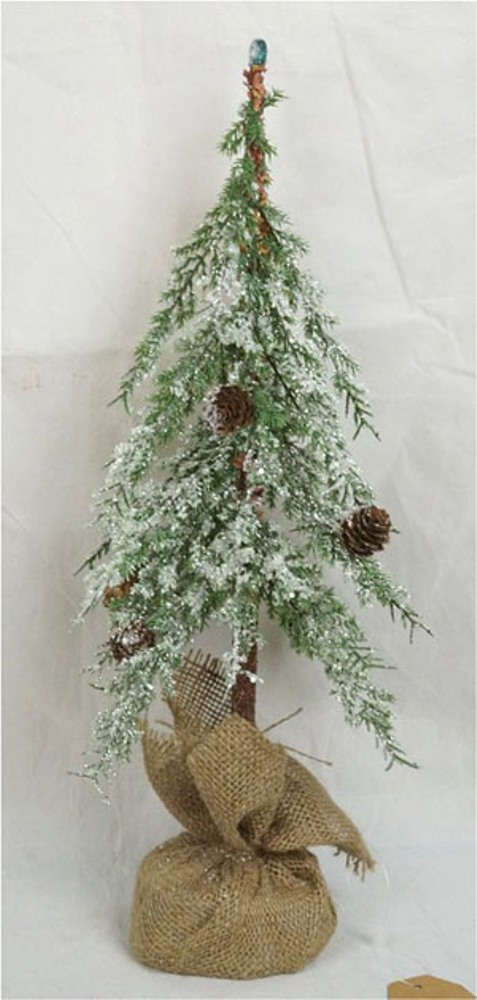 Icy Pine Twig Tree - Table Top Christmas Tree - 18 Inch