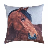 Indoor/Outdoor Pillow - Bay Horse - 18in