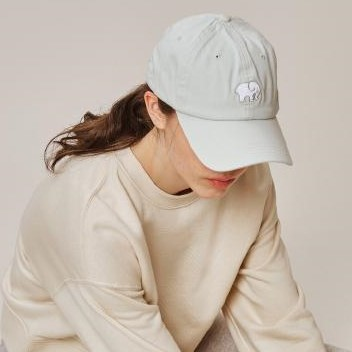 Ivory Ella Baseball Cap - Elephant Light Mint